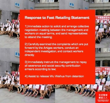 """""""GLOBAL SOLIDARITY ACTION TO SUPPORT ARTIGAS' WORKERS""""- Response to Fast Retailing Statement 