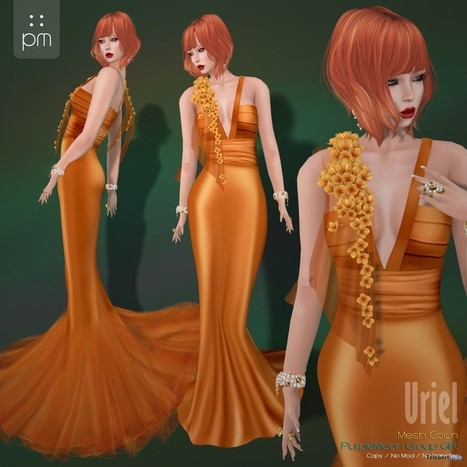 Uriel Gown Group Gift by PurpleMoon | Teleport Hub - Second Life Freebies | Second Life Freebies | Scoop.it