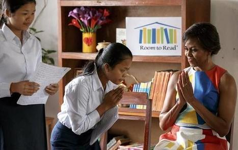 Michelle Obama urges Cambodian girls to speak out | Ajarn Donald's Educational News | Scoop.it