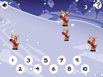 App gratuite: Compter 123 Noël Animaux & Père Noël | FLE enfants | Scoop.it