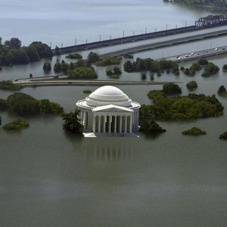 "Rising Seas Swallow 8 Cities in These Climate Change GIFs (""power of pictures"") 
