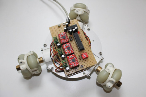 Omniwheel robot build uses a bit of everything | Hackaday | Scoop.it