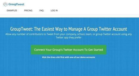 GroupTweet. Gérer un compte Twitter collectif – Les outils de la veille | Geeks | Scoop.it