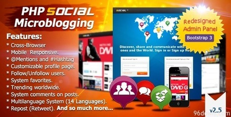 PHP Social Microblogging v2.5 | Download Free Full Scripts | luthfiradovic | Scoop.it