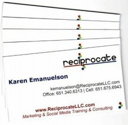 Marketing Tip #11 | Build Your Network with 5-Step Business Card Marketing - Reciprocate LLC | Custom Marketing Strategy Social Media & Technology Training | Book Publicity | Scoop.it