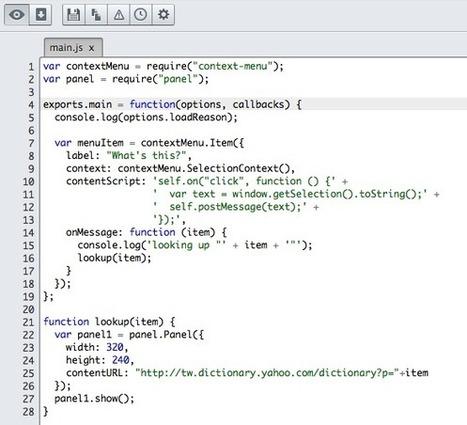 Mozilla Add-on Builder 快速開發自己的 Firefox 瀏覽器外掛 | tonypai | Scoop.it