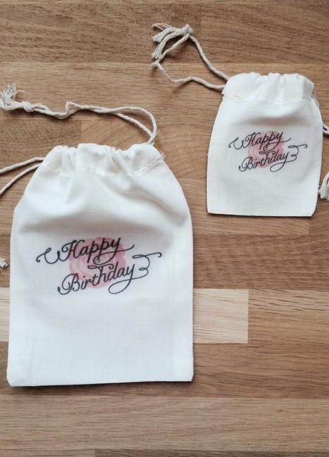 De jolis pochons personnalisés pour vos cadeaux témoins et invités ... | Cadeaux de mariage et voyage de noce | Scoop.it