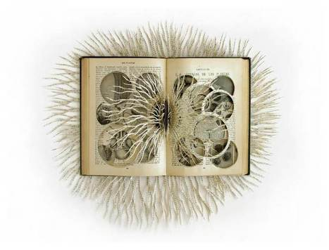 Bookmarking Book Art - Barbara Wildenboer | Books On Books | Scoop.it