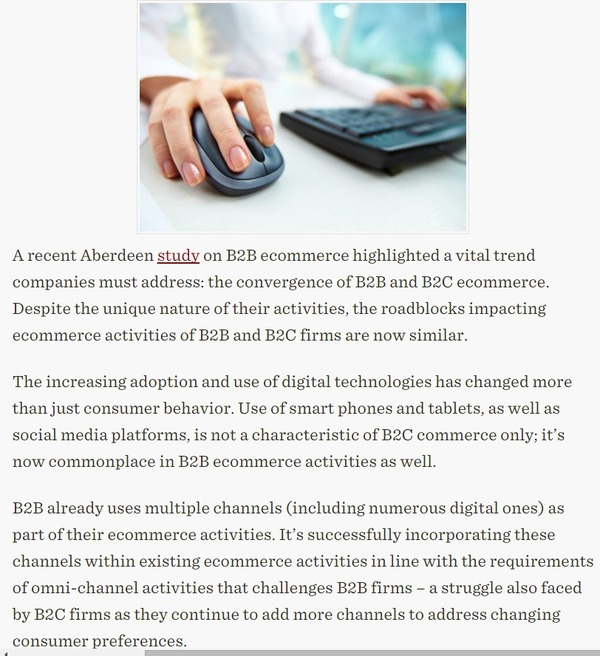 B2B eCommerce Takes on B2C Marketing Best Practices - CMO Essentials   The Marketing Technology Alert   Scoop.it