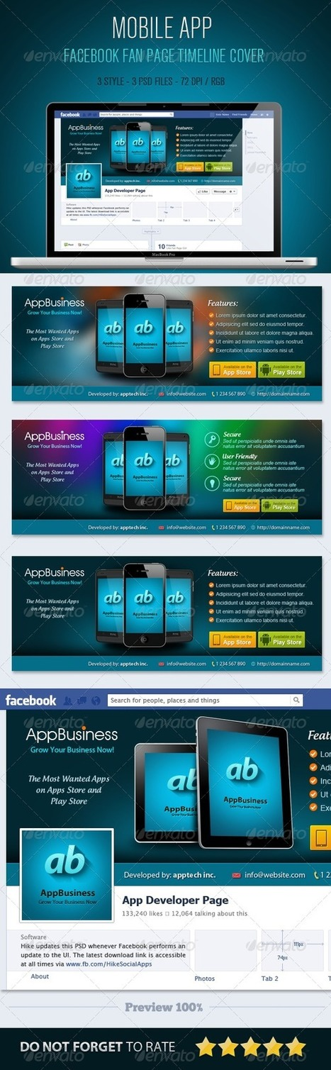 Mobile App Facebook Timeline Cover (Facebook Timeline Covers) | GFX Database | Graphics Share | Scoop.it