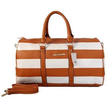 Michael Kors Striped Travel Medium Brown White Satchels Outlet [3028] - $65.99 : Wholesale Michael Kors Handbags, Cheap MK Bags UK Online, www.wholesalemkmall.com | Nike Shoes | Scoop.it
