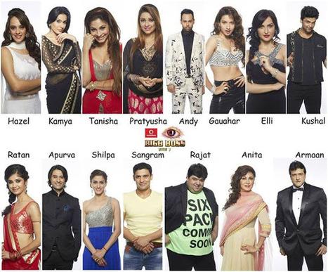 Final Bigg Boss 7 Season 15 Housemates/Contestants List 2013 | BIGG BOSS Saath 7 News, Episodes, Photos | Scoop.it
