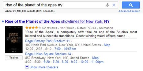 New Google Movies OneBox | Google Sphere | Scoop.it