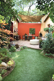 Color Makes a Garden Dining Room Sing in Santa Fe | Design Ideas for Backyards | Scoop.it