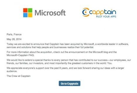 Microsoft s'offre sa 5ème start-up française, Capptain, et intègre leur ... | Les nouvelles entreprises | Scoop.it