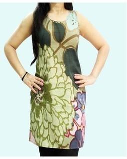 Flower-Leaf Print Kurti | EdayGarments- Buy Dresses, skirts, tops, Tunics | Scoop.it