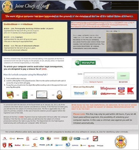 Unblock Computer: Being Hijacked by Joint Chiefs of Staff MoneyPak Virus/Joint Chiefs of State Virus/JCS Virus - Tee Support Blog   Metropolitan Police Virus   Scoop.it