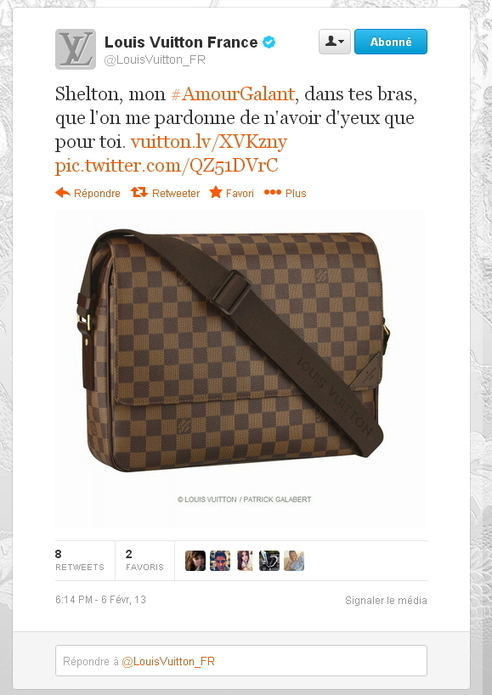 Louis Vuitton célèbre la Saint Valentin sur Twitter | Brand content in marketing