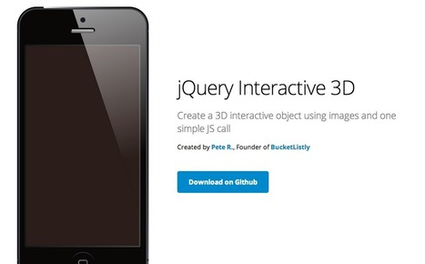 jQuery Interactive 3D by Pete R. | The Pete Design | Web development | Scoop.it