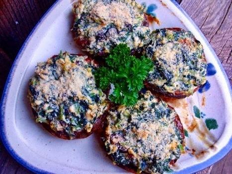 Bryanna Clark Grogan's Vegan Feast Kitchen/ 21st Century Table: VEGAN RICOTTA & GREENS-STUFFED PORTOBELLO MUSHROOM CAPS AND CREAMY ORZO SALAD (OR PILAF) WITH ROASTED VEGETABLES | My Vegan recipes | Scoop.it
