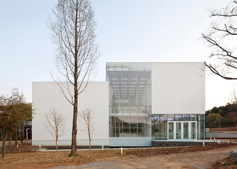 White Block Gallery by SsD features fritted glass facades that evoke the local fog | sustainable architecture | Scoop.it