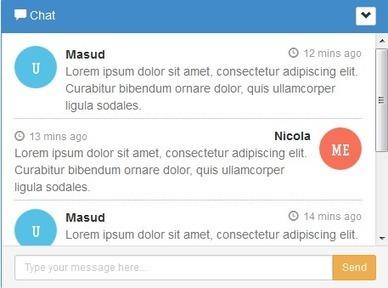 Make a Chat Widget by Bootstrap - Bootstrap Eden   .Net Web Development   Scoop.it