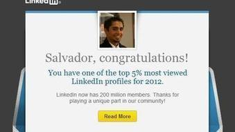 LinkedIn's clever marketing: You're special like 10 million others | Sizzlin' News | Scoop.it