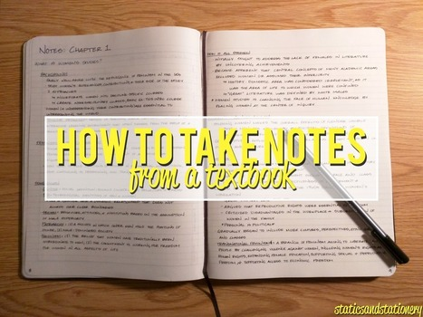 How to Take Notes: From a Textbook | Study skills (KES, Stratford upon Avon) | Scoop.it