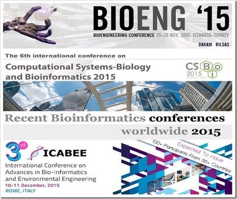 Recent Bioinformatics conferences worldwide 2015 | bioinforamtics | Scoop.it