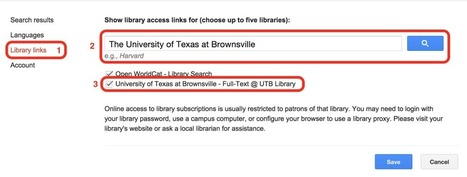Linking Your School Library to Google Scholar | Eric A. Silva - EdTech Connection | Edtech PK-12 | Scoop.it