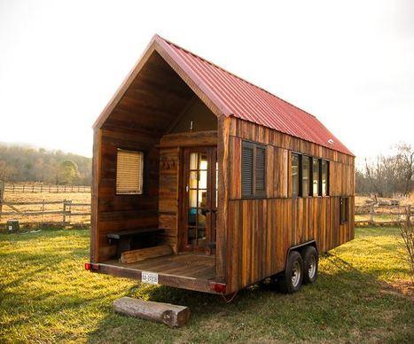 un mobil home en bois   habitat bois   Scoop.it