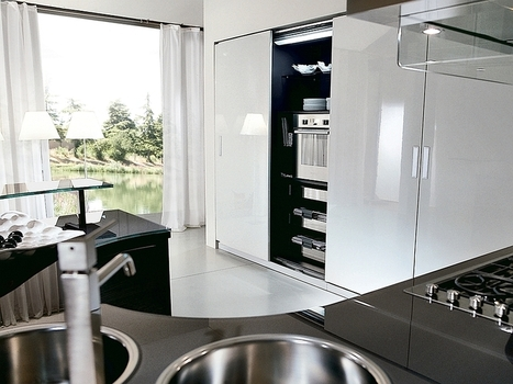 Trendy Contemporary Kitchen With Sizzling Style And Savvy Storage Space | Great Bathroom and Kitchen Style | Scoop.it