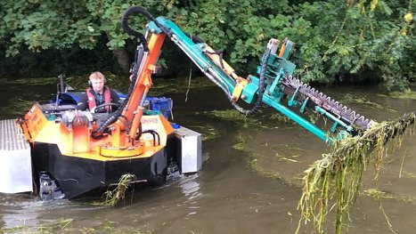 Amphibious Weed-Cutting Boat! | Heron | Scoop.it