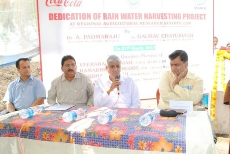 HCCBPL Dedicates Rain Water Harvesting Project at R.A.R.S, Guntur, Andhra Pradesh | Hindustan Coca-Cola Beverages Private Limited | Scoop.it