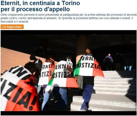 Repubblica.it VIDEO: Eternit, in centinaia a Torino per il processo d'appello | Asbestos and Mesothelioma World News | Scoop.it