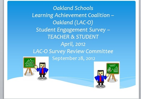 LAC-O Student Engagement Survey 2012 | 21st Century Literacy and Learning | Scoop.it
