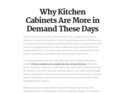 Why Kitchen Cabinets Are More in Demand These Days   Cabinet Makers Adelaide   Scoop.it