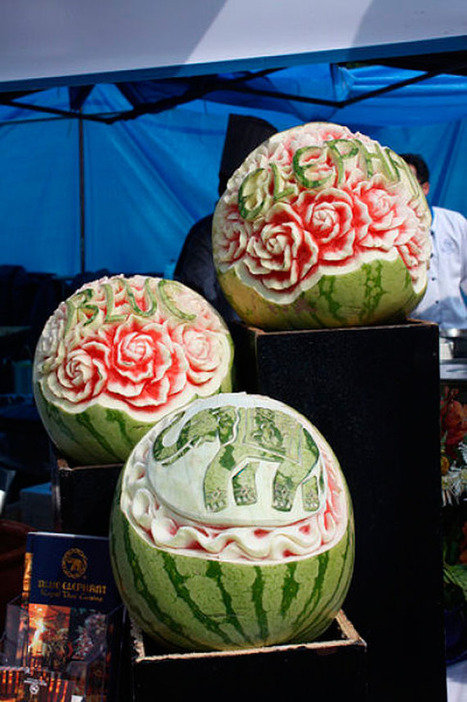 Creative Watermelon Carving Art Designs | CU'I Watermelon Drink | Scoop.it