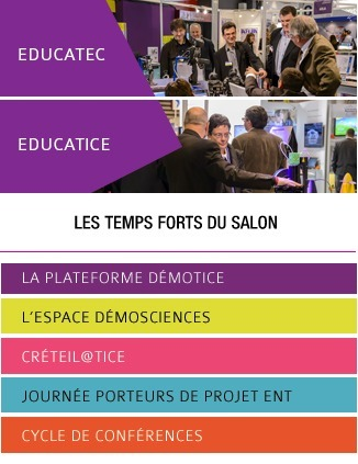 Salon Educatec-Educatice : du 26 au 28 novembre 2014   Pros de l'éducation primaire, secondaire & de l'enseignement supérieur   Scoop.it