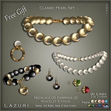 Classic Pearl Set by Lazuri   Teleport Hub - Second Life Freebies   Second Life Freebies   Scoop.it