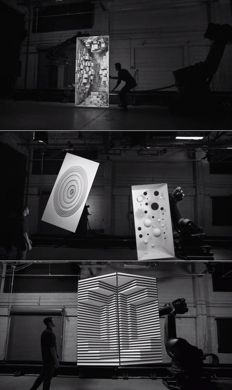 Crazy 3D Projection Mapping On Moving 2D Surfaces | Geekologie | Creative Thinking | Scoop.it