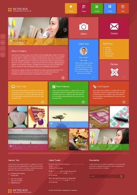 Metro Rox, WordPress HTML5 Windows 8 Style Theme | WP Download | wew | Scoop.it