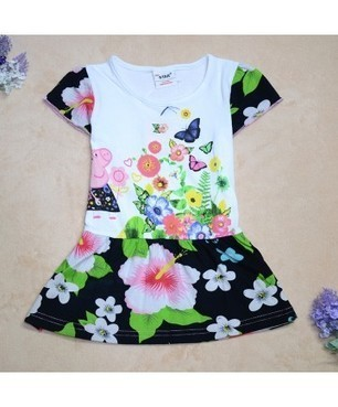 Baby Girl Summer Floral Print Cute Dress | Clothing at SMA-STAR | Scoop.it