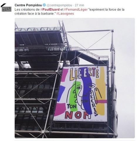 Le Centre Pompidou affiche les mots de Paul Éluard en réponse aux attentats | Arts et FLE | Scoop.it