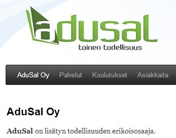 AduSal Oy - Lisätty todellisuus | Augmented Reality & VR Tools and News | Scoop.it