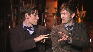 BBC One - Doctor Who, Matt Smith and David Tennant Interviewed Behind the Scenes of the Doctor Who 50th Anniversary Special | magic and entertainment | Scoop.it