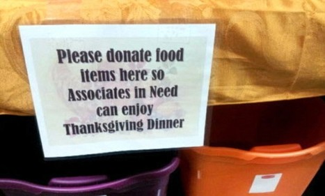 Walmart is holding a food drive for its own employees for Thanksgiving | anonymous activist | Scoop.it