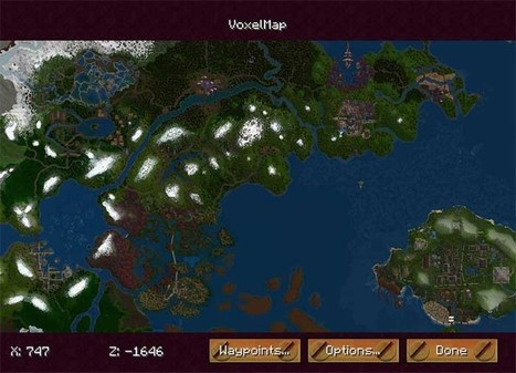 VoxelMap Mod for Minecraft 1.10/1.9.4/1.7.10 | MinecraftSide | Learning on the Digital Frontier | Scoop.it