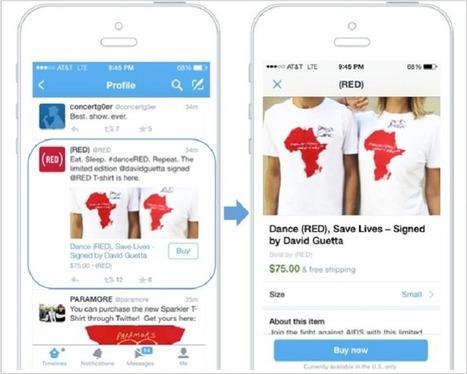 "Twitter vient d'officialiser son bouton ""acheter"" | Performance web | Scoop.it"