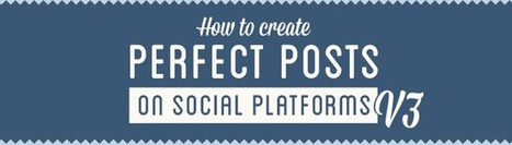 How To Create Perfect Tumblr, Vine, Google+, Facebook & Twitter Posts: Version 3 [Infographic] - mycleveragency - Full Service Social | INFOGRAPHICS | Scoop.it